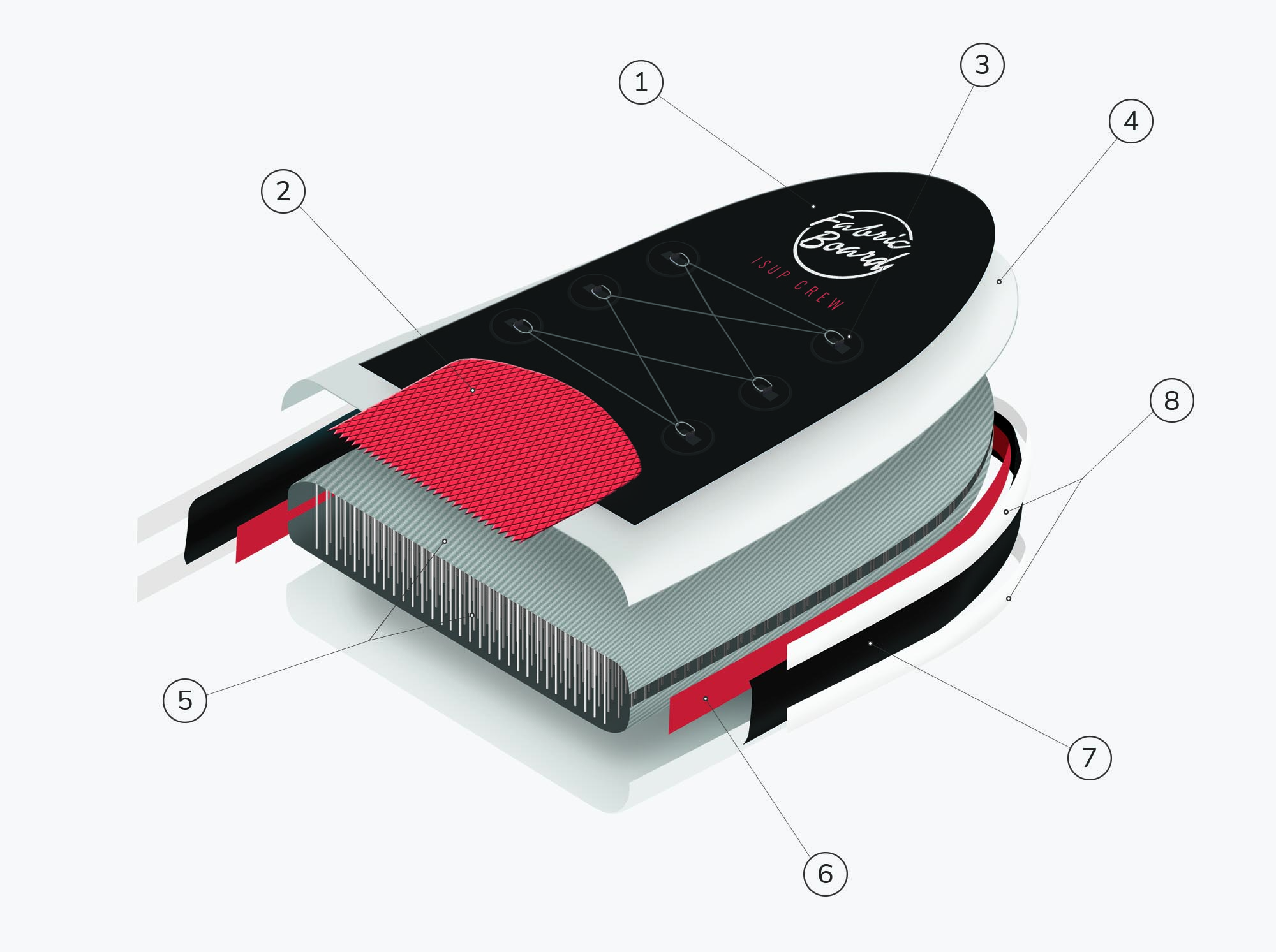MSL Technology Supboard Inflatable Paddle Surf Board Layers Fusion